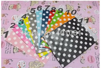 Wholesale Dotted Paper - Polka Dots Food Favor Paper bag, Birthday Party Gift Bag ,11 Colors Available 1000pcs, free shipping