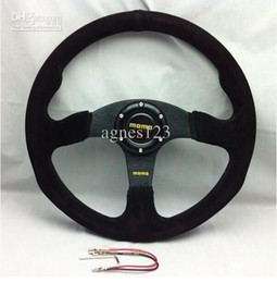 Wholesale Momo Race - Free Shipping MOMO Racing Steering Wheel Suede Leather Wholesale and Retail top sale free shipping