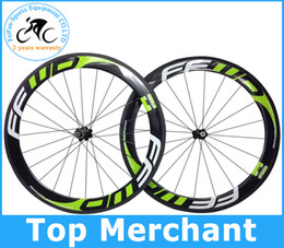 Wholesale Carbon Road Wheels Clincher Set - FFWD wheels F6R 60mm wheelset full carbon road bicycle bike wheels black green Novatec hubs with free gifts (sell look 795 time S5 P5 frame