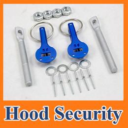 Wholesale Hood Pin Universal Car - Universal Racing Car Bonnet hood pin pins Lock Locking kits Aluminum Blue new