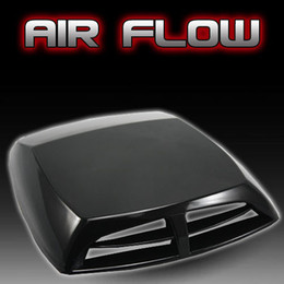 Wholesale Free Flow - Universal black Car decorative Air Flow Intake Scoop Turbo Bonnet Vent Cover hood free shipping car Stickers