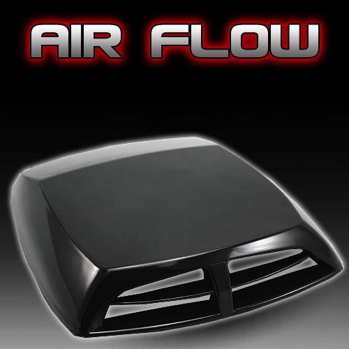 Universale nero Car decorative Air Flow Aspirazione Scoop Turbo Bonnet Vent copertura cappuccio adesivi per auto spedizione gratuita