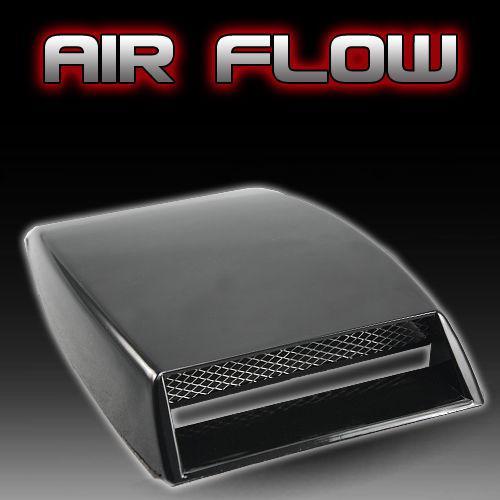 ¡Envío gratis! Negro Universal Car decorativo Flujo de aire Toma de admisión Turbo Bonnet Vent Cover cubierta de campana decorar