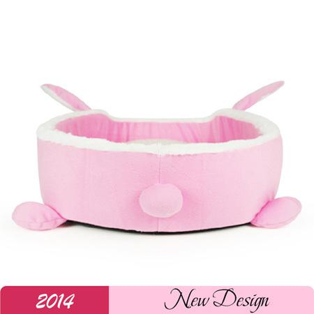 2014 Popular Cartoon Dog Beds Winter Pet Dog House Cute Rabbit Pet Kennels Warm And Comfortable PP Cotton Padded Pink Dog bed