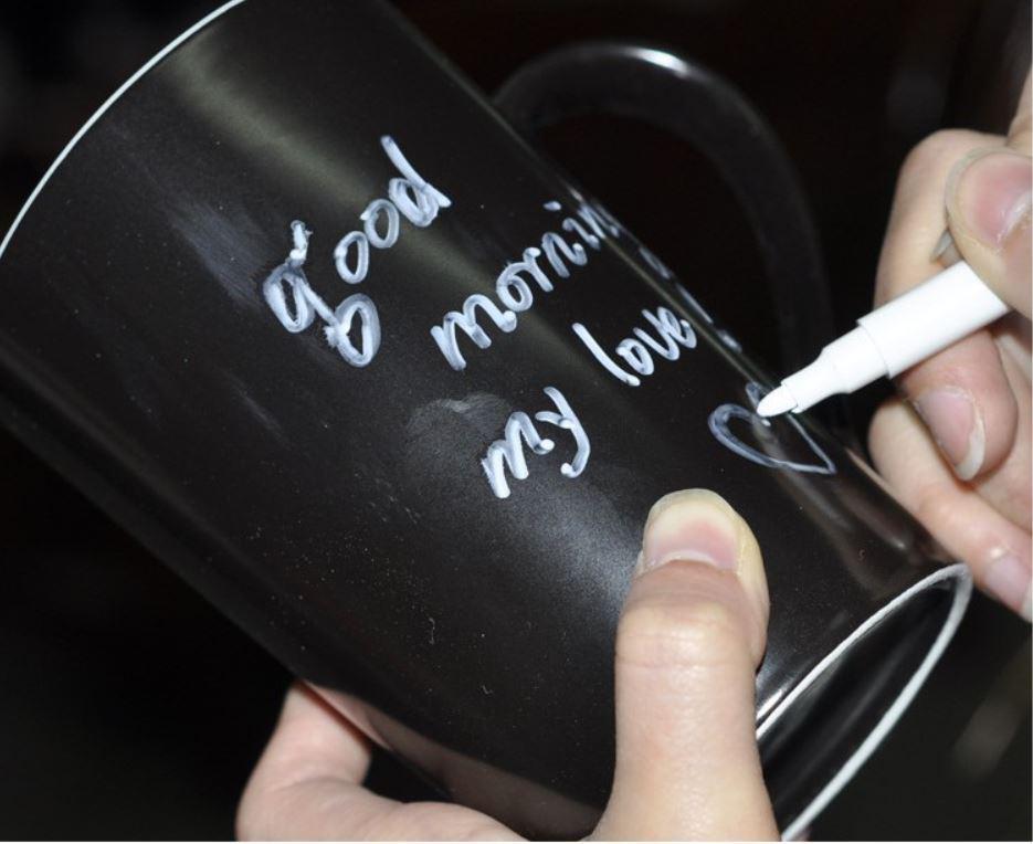 رسالة القدح كأس السيراميك اترك رسالة الجدة مات الأسود ناحية اللوحة فنجان قهوة القدح 12OZ