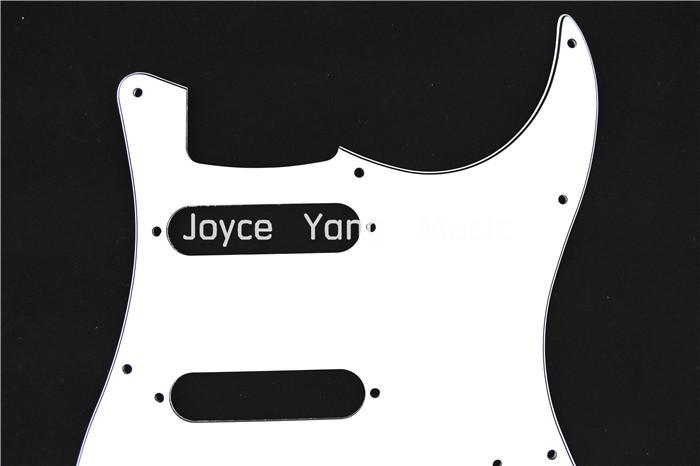 أبيض 3 رقائق غيتار كهربائي Pickguard للالحاجز STRAT نمط الغيتار الكهربائي شحن مجاني بالجملة