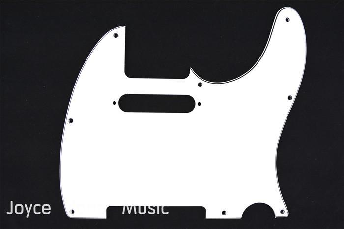 الأبيض 3 رقائق Pickguard لالغيتار الكهربائي على الحاجز تيلي نمط الغيتار الكهربائي شحن مجاني بالجملة