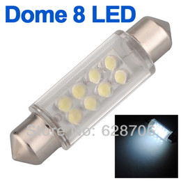 Wholesale Car Led Interior Lights 42mm - 20X 42mm 8 LED Pure White Car Auto Interior Dome Festoon Light Lamp Bulb DC 12V