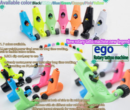 Wholesale Ego Tattoo - EGO Rotary Tattoo Machine Gun 7 Colors Assorted Shader Liner Supply For Tattoos Gun Kits New