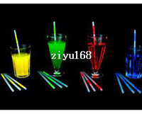Wholesale Glow Products Wholesale - wholesale party supplies reusable plastic drinking straws glow in the dark product Led Straw free shipping