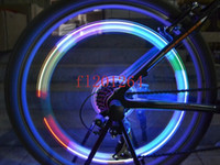 Wholesale Wheels Tires Packages - Retail package Colorful Skull Head Bicycle Bike Tire Valve Wheel Flash LED Light Lamp,1000pcs lot(2pcs per pack)