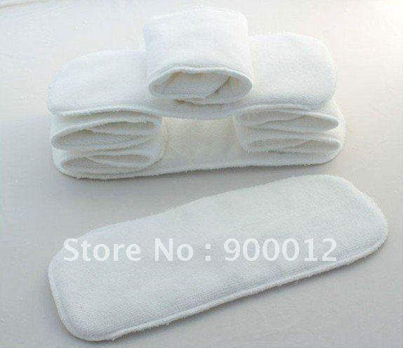 Naughty Baby Microfiber Inserts 3 Layers Washable 100% microfiber Baby Cloth Diaper Nappies inserts