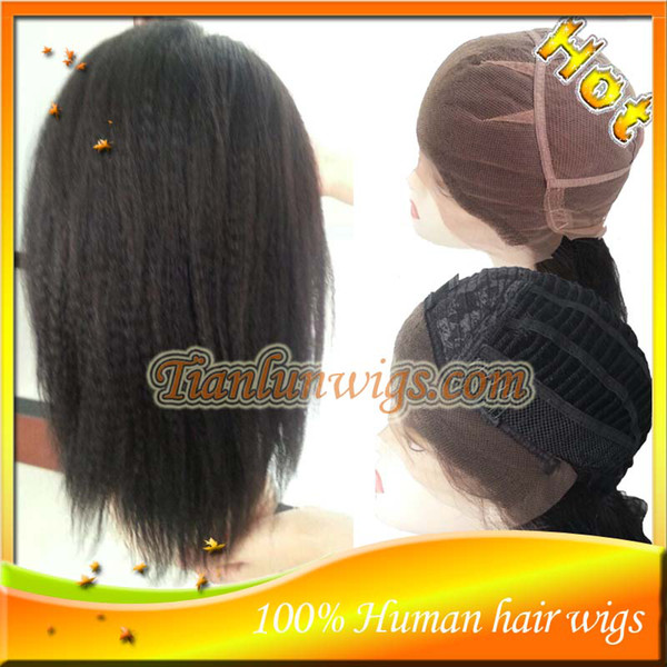 Hot Sale 100% Peruvian Virgin Human Hair Kinky Straight Full Lace Wig&Lace Front Wigs For Black Women Natural Baby Hair Free Shipping