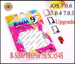 Wholesale Iphone Gpp - Original R-SIM 9 RSIM9 R-SIM9 Pro Perfect SIM Card Unlock Official IOS 7.0.2 7.1 ios 7 gpp ios 7.1 RSIM 9 for iphone 4S 5 5G 5S 5C GSM CDMA
