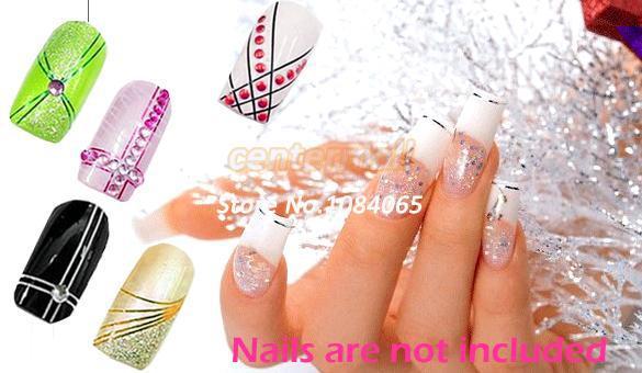Großhandel-30 Mix Color Rolls Streifenband Metallic Garn Line Nail Art Decoration Aufkleber Kostenloser Versand 4964407