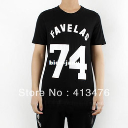 Wholesale T Shirts Label - Wholesale-2014 new arrive GIVE men's t-shirt short sleeve PRINTED FAVELAS 74 slim fit fashion shirt cotton tee brand tag label
