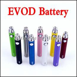 Wholesale Ego Cig Kits - eGo EVOD Battery 650mah 900mah 1100mah EVOD Battery for MT3 CE4 CE5 CE6 Electronic Cigarette E Cigarettes E cig Kit Various Colors Instock