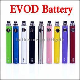 Wholesale Ego Ce5 Electronic Cigarettes Kits - eGo E Cigarette EVOD Battery 650mah 900mah 1100mah EVOD Battery for MT3 CE4 CE5 CE6 Electronic Cigarette E cig Kit Colorful Battery Instock