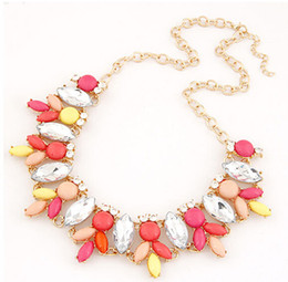 New Fashion Bib Chokers Cheap Bubble Statement Necklaces 2014 For Women Drop S906421