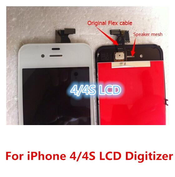 50pcs DHL Free Shipping Great tft LCD Display +Touch Screen Digitizer Assembly Repair Replacement For iPhone 4 4G 4S