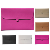 S5Q Leather Laptop Envelope Case Carry Sleeve Housse pour Macbook Pro Air 13