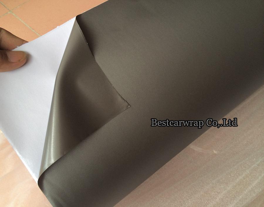 Gunmetal Metallic Grey Grey Vinyl film wrapping auto con autoadesivi auto d'aria Autoadesivi auto Piede Avvolgimento Dimensioni: 1.52 * 30 m Rotolo Spedizione gratuita