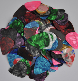 Lots Of 100 Pcs Thin 046mm Blank Guitar Picks Plectrums Celluloid Assorted Colors