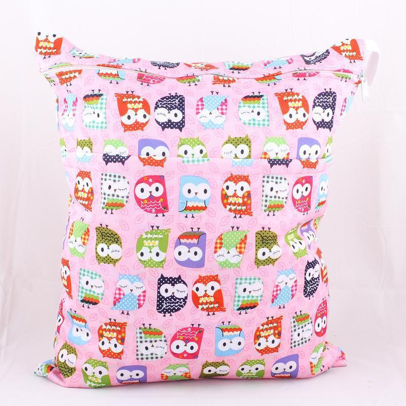 Wet Dry Bag With Two Zippered Baby Diaper Bag Nappy Bag Waterproof Reusable Print colorful Retail Wholesale Swimmer