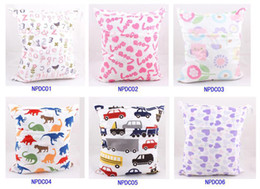 Wholesale Cloth Nappy Minky - Minky Diaper wet bag colorful Zippered Reusable Waterproof baby Cloth Diaper Wet Dry Bag