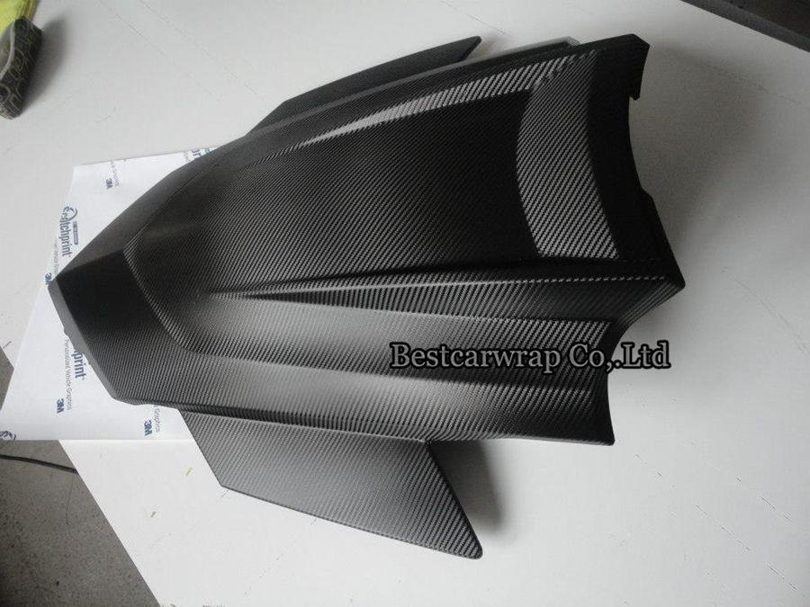 Las hojas de la película del envoltorio para coches del abrigo del vinilo de la fibra del carbón del negro 3D de la calidad 3M con el drenaje del aire calidad superior 1.52x30m / ruedan 4.98x98ft