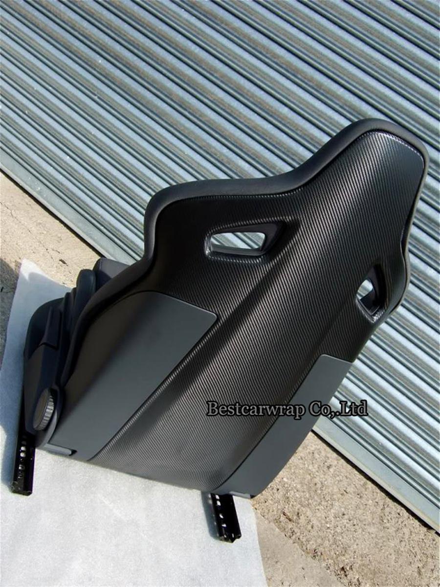 3M Qualité 3D Noir En Fiber De Carbone Vinyle Enveloppement De Voiture Film D'emballage Feuilles Avec Air Drain Top qualité 1.52x30m / Roll 4.98x98ft