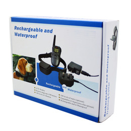 Wholesale Dog Collars Rechargeable - Rechargeable and waterproof Remote Dog Training Collar 998DR 1 Collar with LCD Screen 100 level Shock and vibration