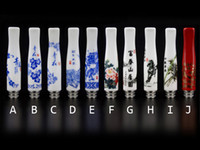 Wholesale Vivi Style - E Cigarette 510 Drip Tips With Ceramic Material Chinoiserie Styles Fit EE2 EGO Vivi Nova Atomizer 510 Clearomizers E-Cigars Mouthpiece