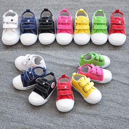Wholesale Toddler Boys White Canvas Shoes - Children Shoes First Walking Shoes Baby Canvas Shoes Infant Shoes Baby Boys Girls Shoe Baby First Walker Shoes Toddler Shoes Baby Footwear
