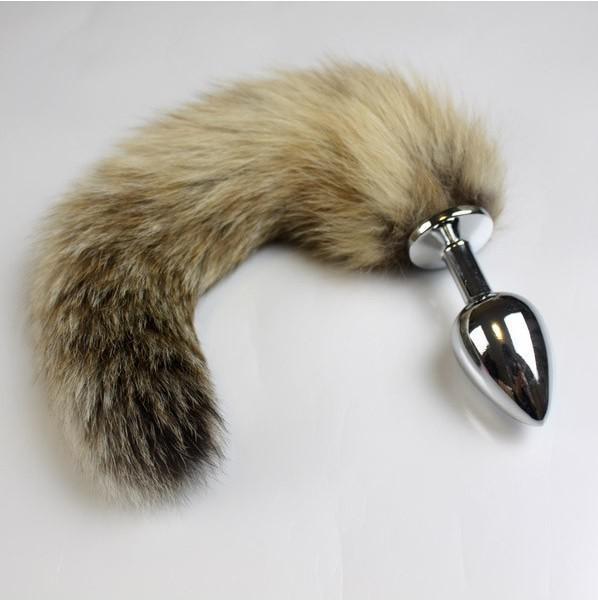 Seksi Tilki Kuyruğu Anal Plug, Metal Paslanmaz Çelik Yumuşak Uyarıcı Butt Plug ile Enticing Yumuşak Kuyruk Seksi Oyuncaklar için Kadın DHL tarafından 100 adet / grup