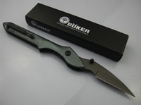 Wholesale Wholesale 56 - Promotion BOKER Plus 343 tactical folding knife Small Sky Bird 56HRC Gray Blade EDC Pocket Knife Aluminum alloy Handle New in retail box