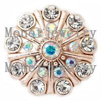 Wholesale Cheap Chunk Bracelets Buttons - D00226 18mm metal cheap button snap for noosa chunk jewelry for women bracelet