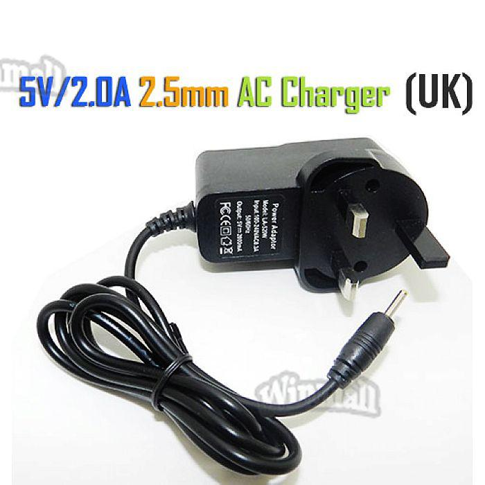 5V 2A 2.5mm US EU UK Plug Converter Charger Power Supply AC Adapter for All Android Tablet PC Q88 Allwinner
