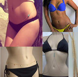 Wholesale Trendy Celebrity Jewelry Wholesale - Mix Style NEW SEDUCTION Celebrity Bikini Belly Waist Link Belt Body Chain Necklace Jewelry[GE10013-GE10016 M*8]