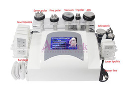 Wholesale Laser Liposuction Machines - New arrival economic 635nm LLLT Laser Slimming Lipolysis Vacuum RF liposuction Multifunction cavitation machine Beauty care VS8008