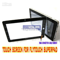 "Wholesale Superpad Touch Screen - Wholesale-Original Replacement Touch Screen +flim For 10.2"" Superpad 5 6 7 8 9 Flytouch V VI VII VIII ePad Tab"