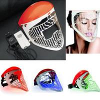 Wholesale Led Beauty Mask - new LED facail mask Light skin led PDT mask manual Skin Photon Rejuvenation Acne Remover beauty machine home use