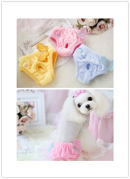 Wholesale Pet Dog Physiological Pants - Free shipping pet dog Physiological Pants Female Animals Dog Sanitary Pants Cute for Dogs butterfly soft fleece material