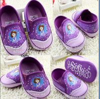 Wholesale Spotted Baby Shoes - 9%off!Spot! 2014 latest summer explosion models cartoon baby sofia princess toddler shoes ,drop shipping,High quality! 5pairs 10pcs,TX
