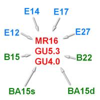 Wholesale E14 B22 Adapter - MR16 G5.3 GU4.0 to E12 E14 E17 E27 B15s B15d B15 B22 to MR16 G5.3 G4 base holder socket converter adapter lamp bulb fitting