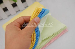 Wholesale Screen Cleaner Computer - HOT Microfiber Cleaning Cloth for LCD Screen Tablet Phone Computer Laptop Cloth Glasses Lens Eyeglasses Wipes Clean Cloth 5inch x 5inch