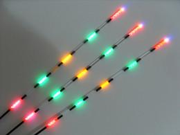 flotteur lumineux Promotion flotteur de pêche bobber vision nocturne flotteur électrique batterie de lumière matériel de pêche 3pcs / set flotteur électronique lumineux