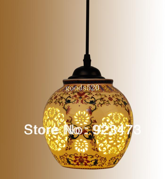 New Whole Vintage Ceramic Chandeliers Chinese Style Pendant Lamp Light For Home Living Room Lantern Multi