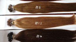Wholesale Remy 33 - 100% Brazilian Human Virgin Remy Hair#1B 2 4 6 12 33 60 Nano Ring Hair Extension Hot Queen Pre-bonded Hair 6A Grade 300g lot No Shedding