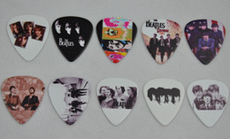 Wholesale Guitar Plectrums - Lots of 100 Pcs The Beatles 2 sides Printing Guitar Picks Plectrums